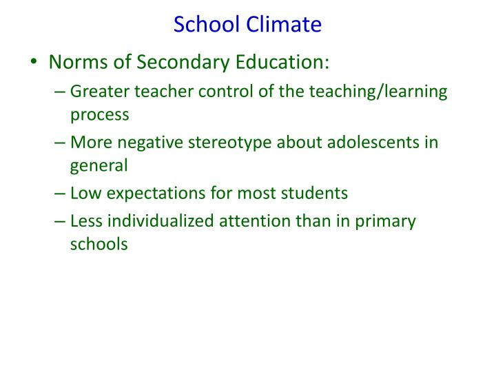 School Climate