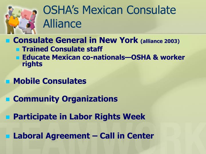 Osha s mexican consulate alliance