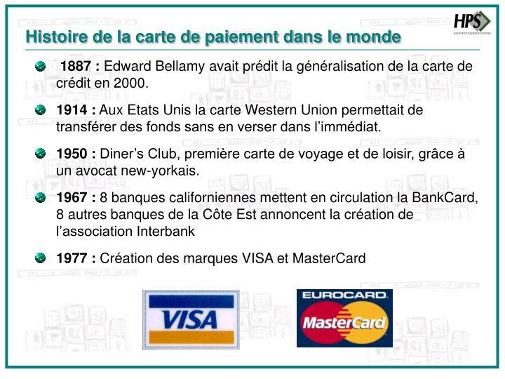 Histoire de la carte de paiement dans le monde
