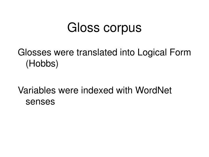 Gloss corpus