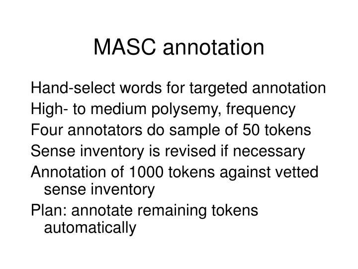 MASC annotation