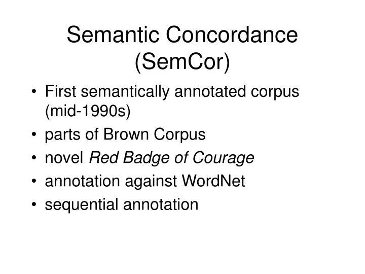 Semantic Concordance (SemCor)