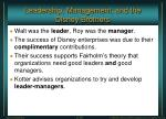 leadership management and the disney brothers