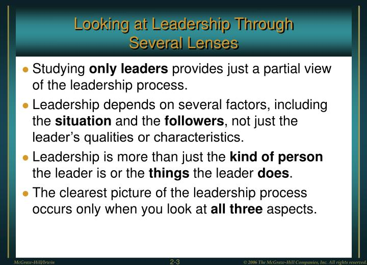 Looking at Leadership Through