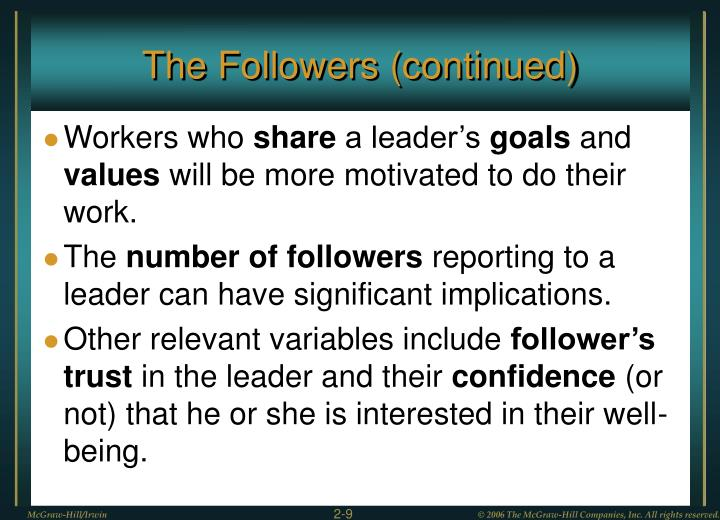 The Followers (continued)