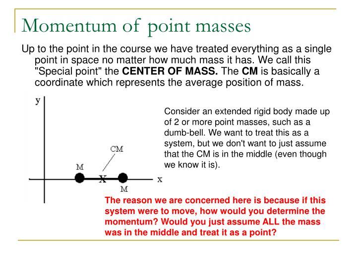 Momentum of point masses