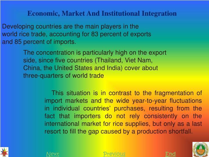 Economic, Market And Institutional Integration