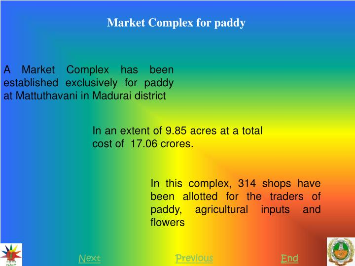 Market Complex for paddy