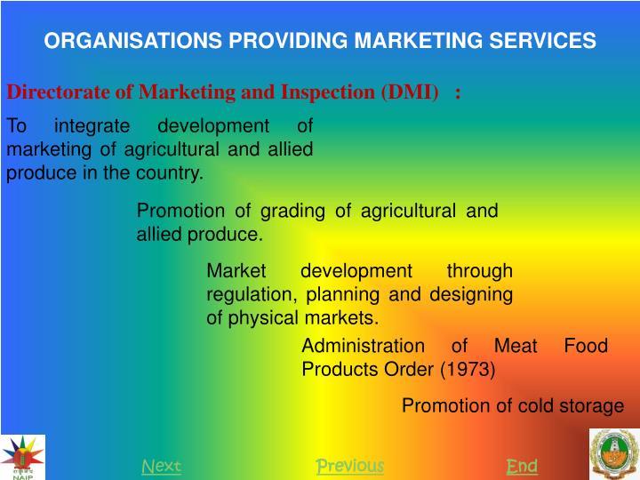 ORGANISATIONS PROVIDING MARKETING SERVICES