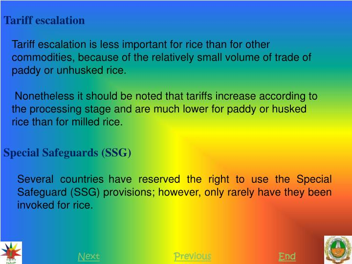 Tariff escalation