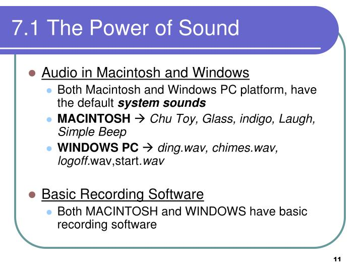 7.1 The Power of Sound