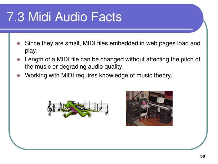 7.3 Midi Audio Facts