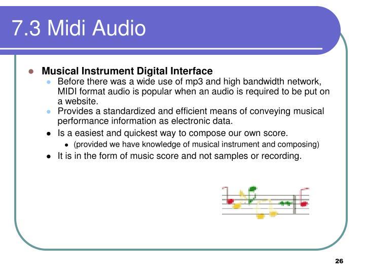 7.3 Midi Audio