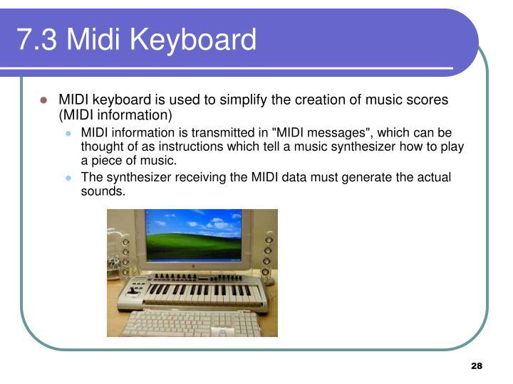 7.3 Midi Keyboard
