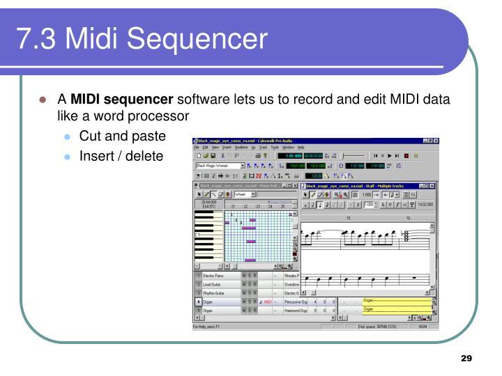 7.3 Midi Sequencer