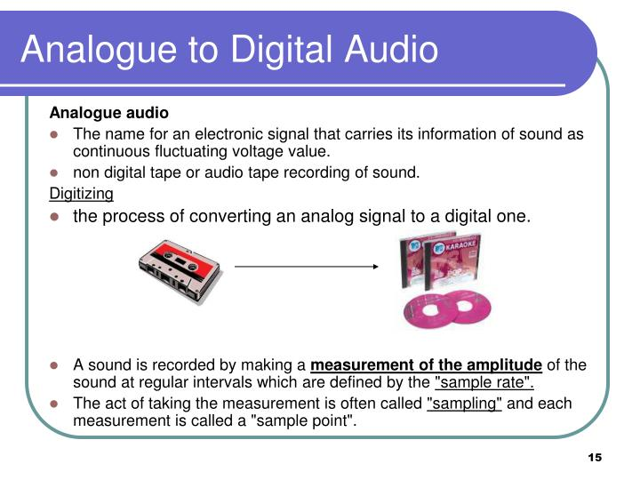 Analogue to Digital Audio
