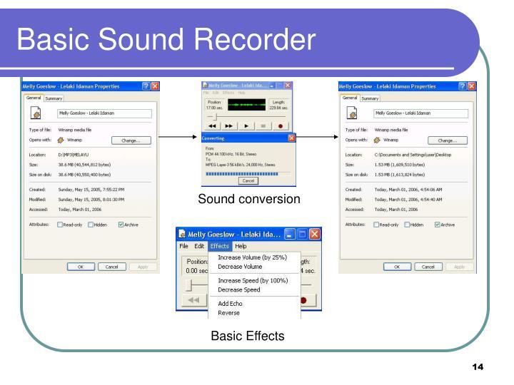 Basic Sound Recorder