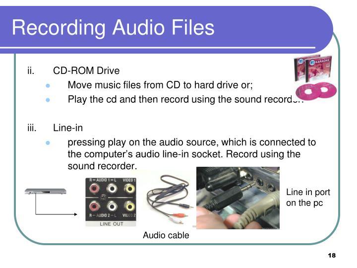 Recording Audio Files