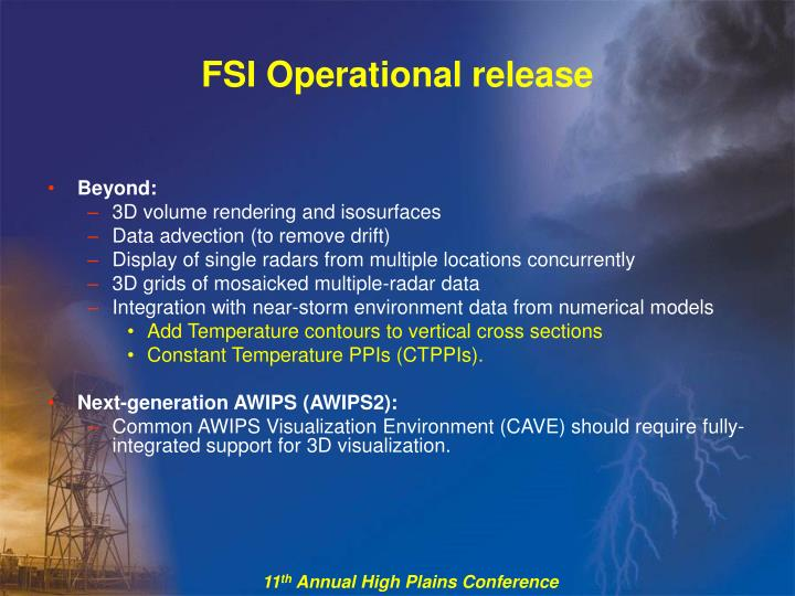 FSI Operational release