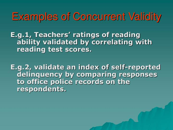 Examples of Concurrent Validity