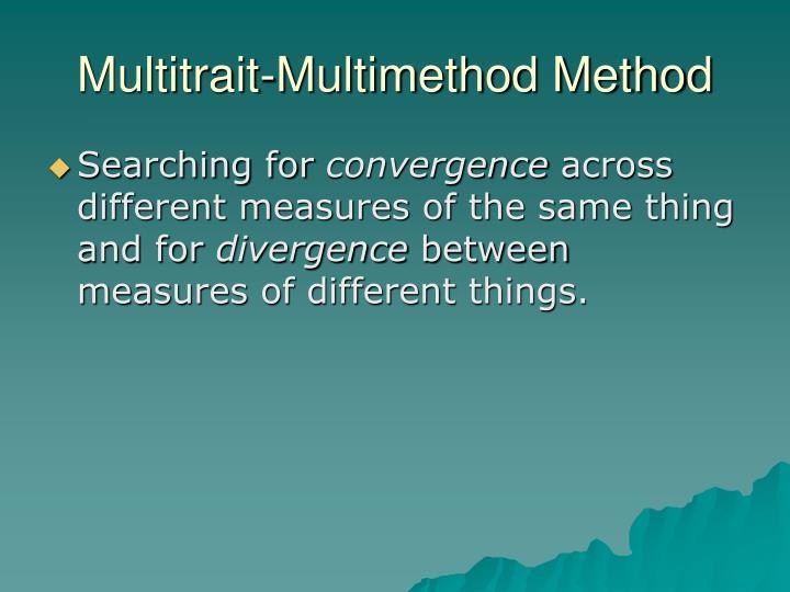 Multitrait-Multimethod Method