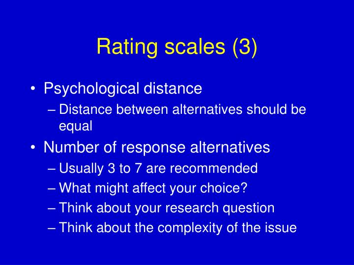 Rating scales (3)