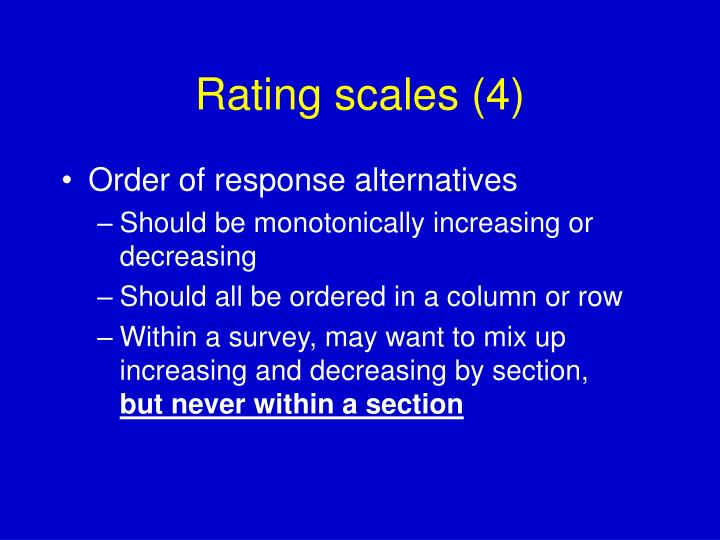 Rating scales (4)