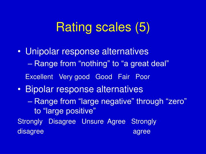 Rating scales (5)