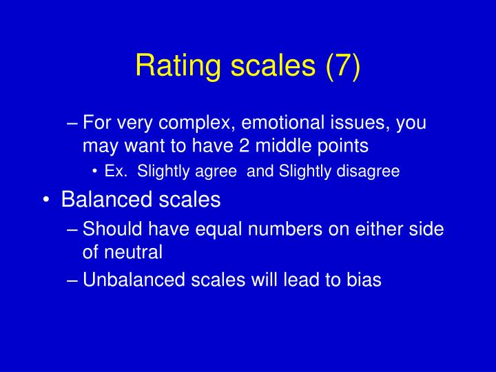 Rating scales (7)