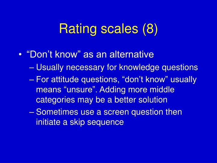 Rating scales (8)