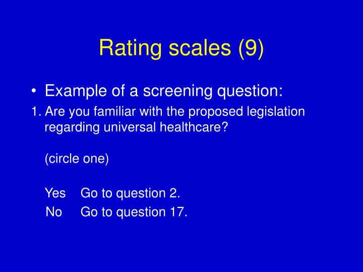 Rating scales (9)