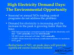 high electricity demand days the environmental opportunity