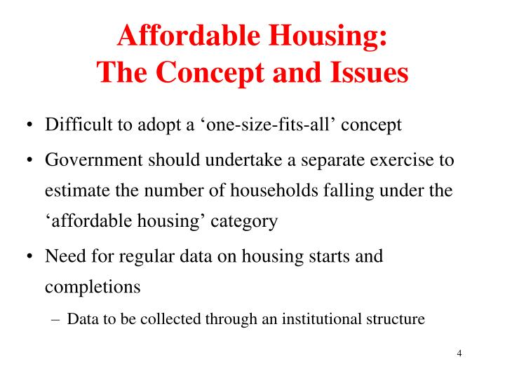 Affordable Housing: