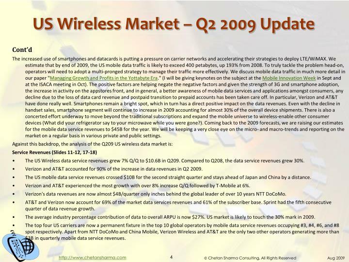 US Wireless Market – Q2 2009 Update