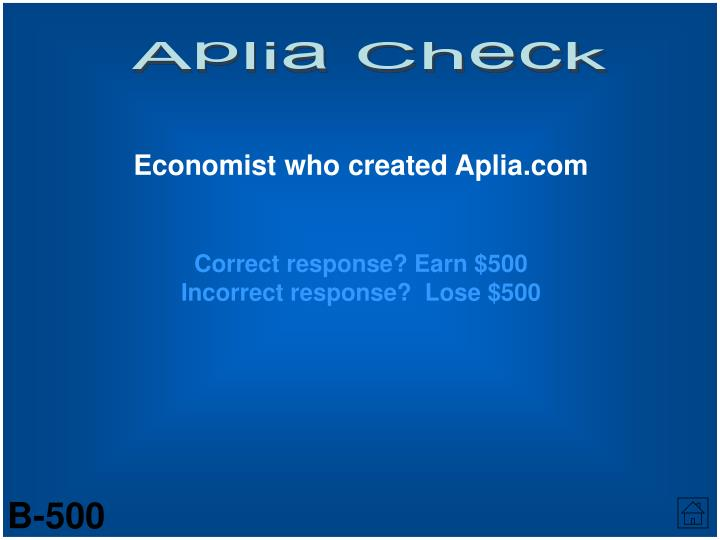 Aplia Check