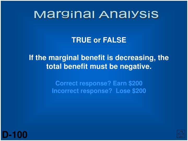Marginal Analysis