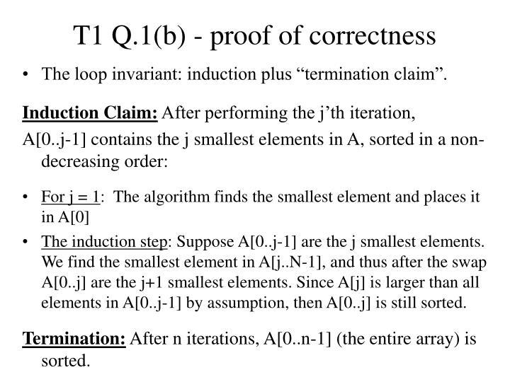 T1 Q.1(b) - proof of correctness