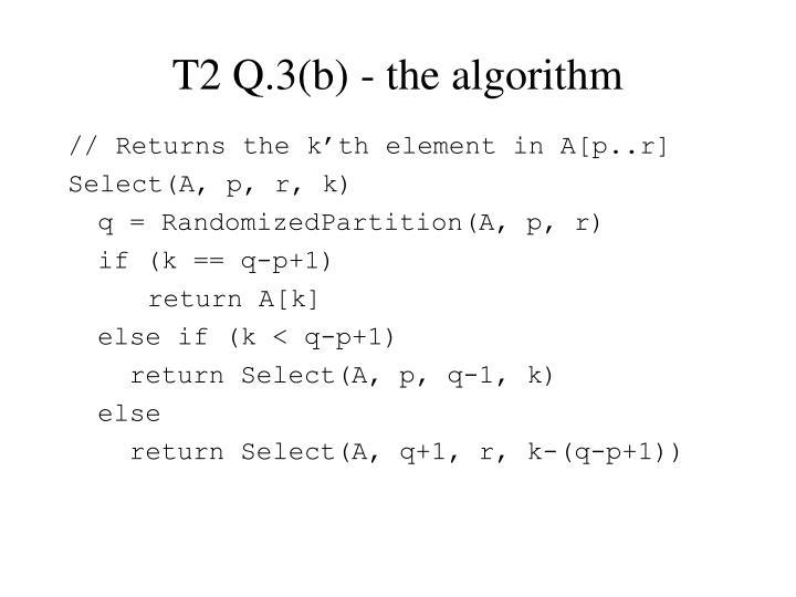 T2 Q.3(b) - the algorithm