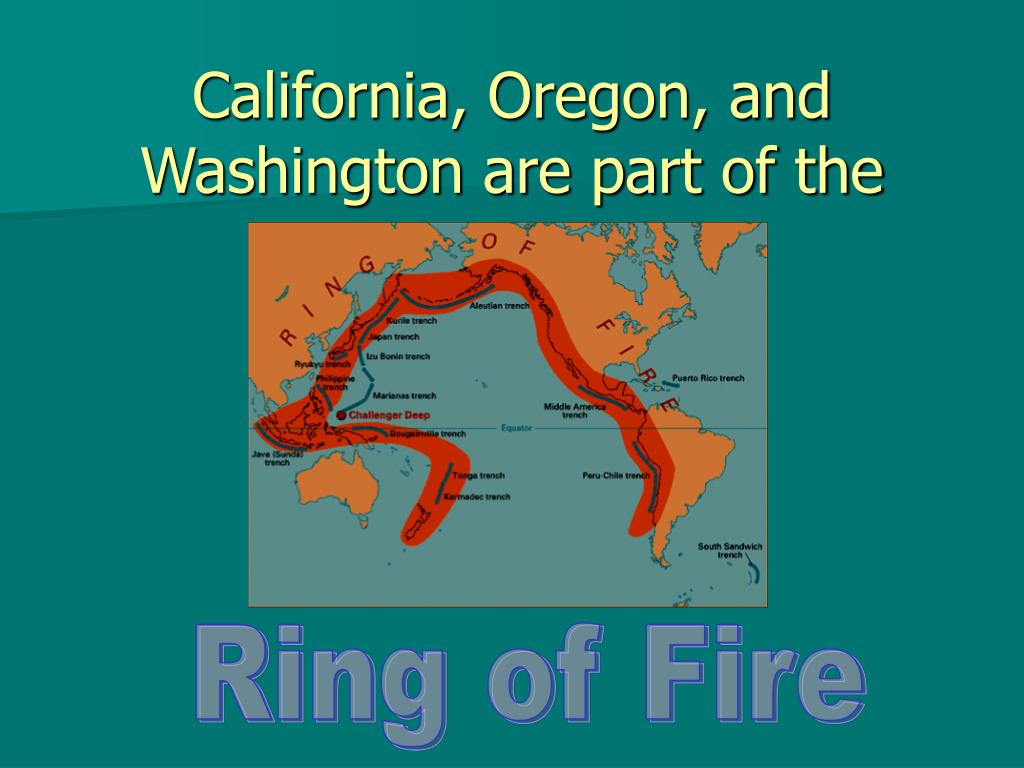 California, Oregon, and Washington are part of the