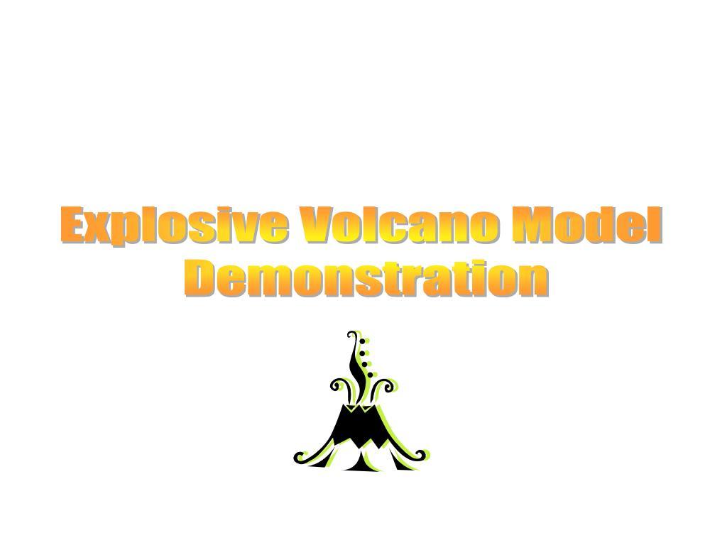 Explosive Volcano Model