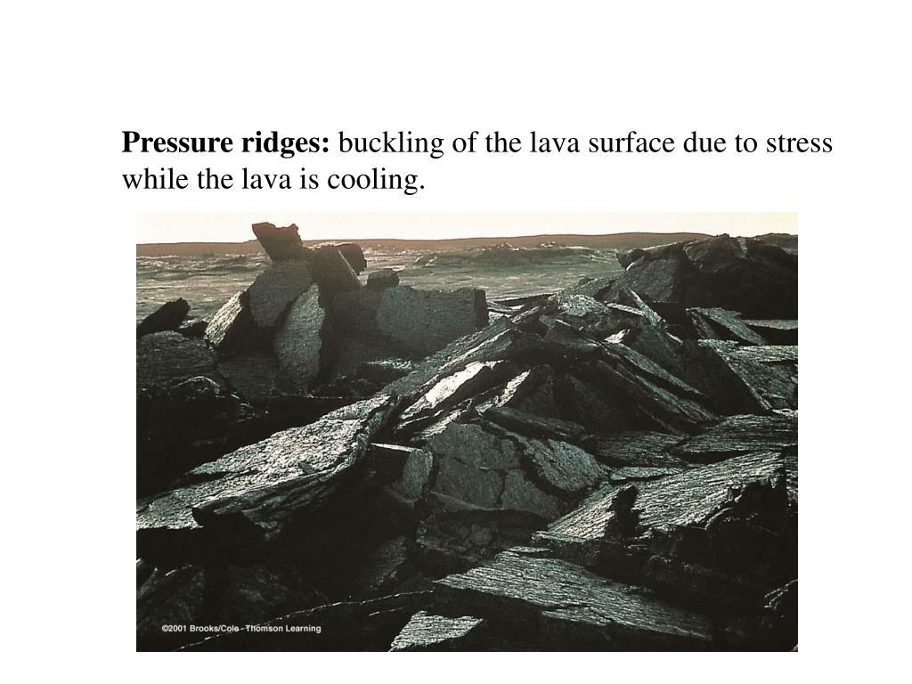 Pressure ridges: