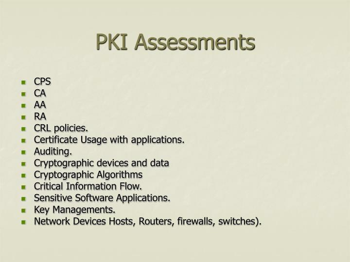 PKI Assessments