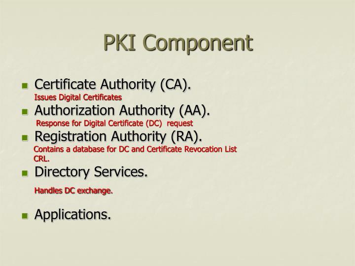 PKI Component