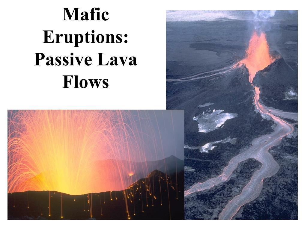 Mafic Eruptions: