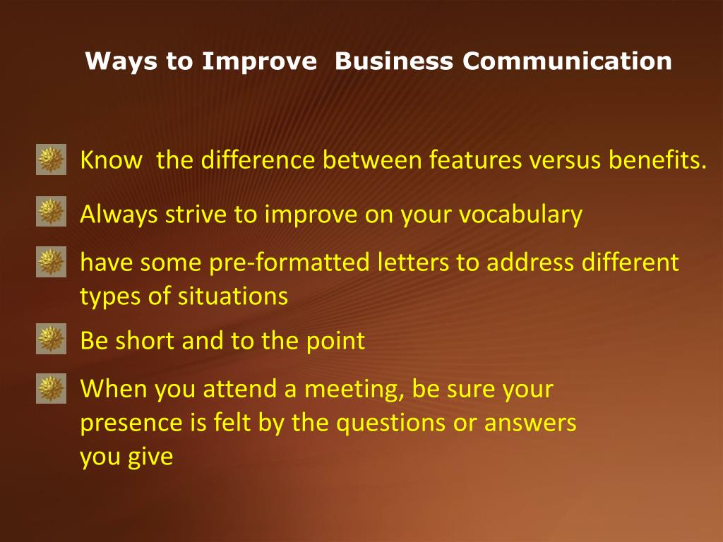 Ways to Improve  Business Communication