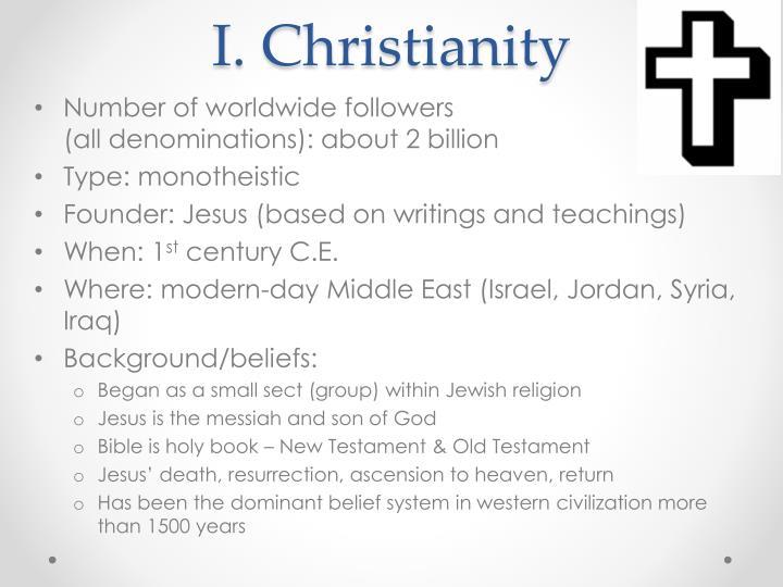 I. Christianity