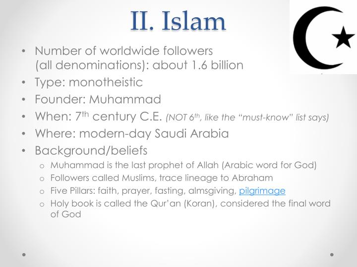 II. Islam