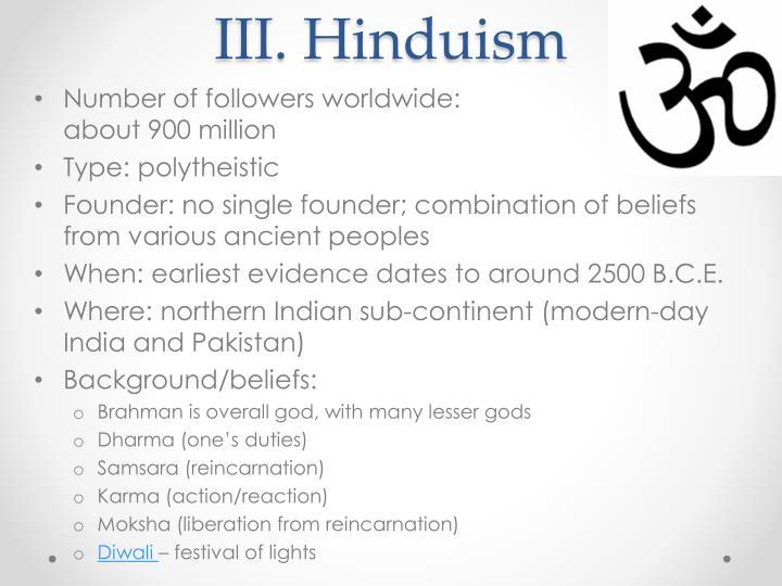 III. Hinduism