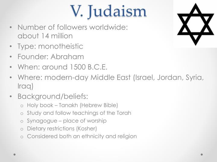 V. Judaism