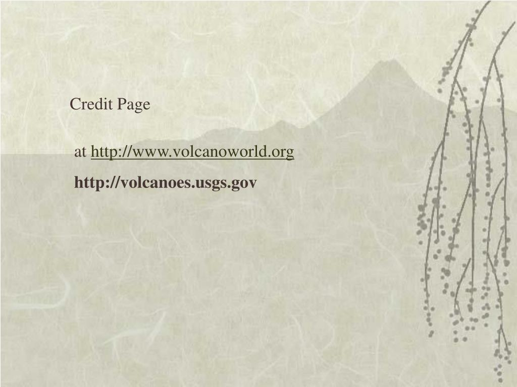 Credit Page